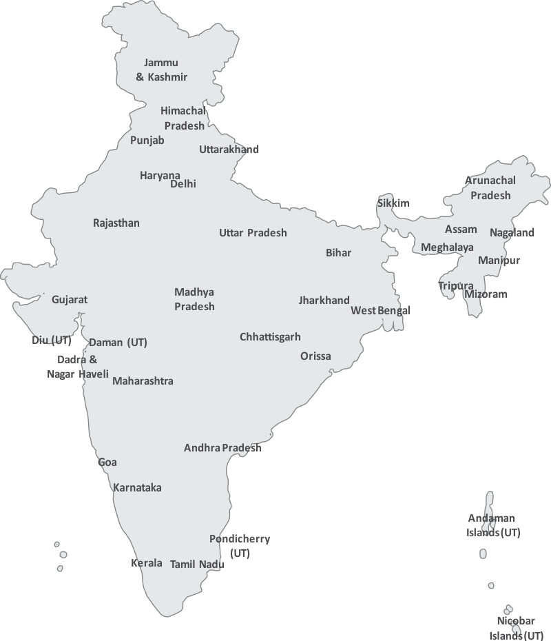 Great Free Vector Map Of India